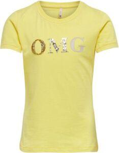 T-Shirt KONGITA , Organic Cotton gelb Gr. 110/116 Mädchen Kinder
