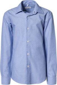 Langarmhemd mit Kentkragen , Slim Fit blau Gr. 164 Jungen Kinder