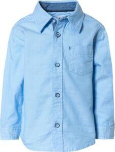 Kn.-Hemd - Langarmhemden - männlich blau Gr. 68 Jungen Baby