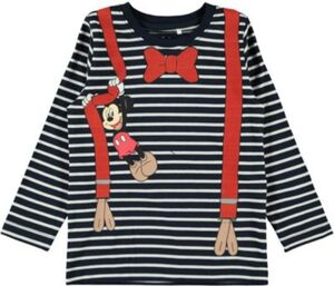 Disney Mickey Mouse & friends Langarmshirt NMMMICKEY  dunkelblau Gr. 110 Jungen Kleinkinder