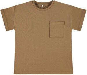 T-Shirt NKMRALLE , Organic Cotton braun Gr. 122/128 Jungen Kinder