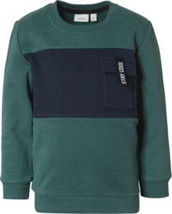 Sweatshirt NMMSANMA , Organic Cotton grün Gr. 116 Jungen Kinder