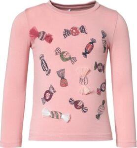 Langarmshirt NMFROCANDY , Organic Cotton rosa Gr. 92 Mädchen Kleinkinder