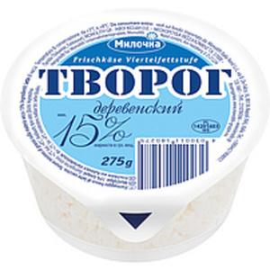 """Frischkäse """"Tworog Derewenskij"""" 15% Fett i.Tr."""