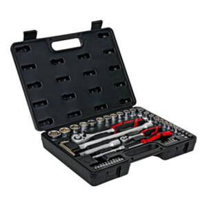 STIER Steckschlüsselsatz 1/4 Zoll + 1/2 Zoll, 54-teilig