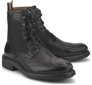 Ambitious, Brogue-Stiefelette in schwarz, Boots für Herren