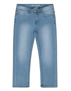 Damen Stone Washed Skinny Fit Capri Jeans