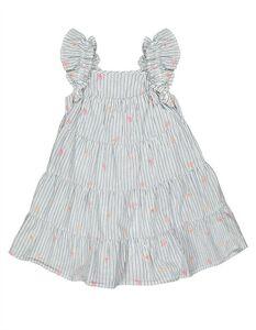 Mädchen A-Linienkleid mit gebundener Saum