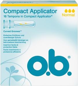 o.b.Tampons Compact Normal Applicator 16ST