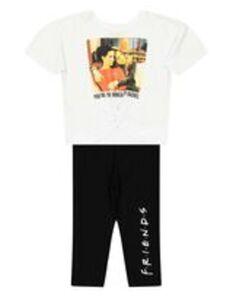 Mädchen Set mit Friends Crop Shirt und Capri Leggings