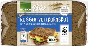 EDEKA Bio Roggen Vollkornbrot 500 g