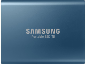 SAMSUNG Portable SSD T5, 500 GB SSD, extern, Blau