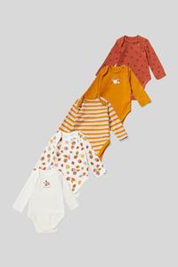 C&A Multipack 5er-Baby-Body-Bio-Baumwolle, Braun, Größe: 56