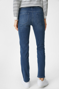 C&A Straight Jeans-Umstandsjeans-Bio-Baumwolle, Blau, Größe: 34