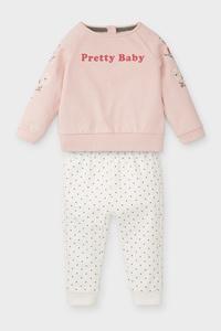 C&A Baby-Outfit-Bio-Baumwolle-2 teilig, Rosa, Größe: 62