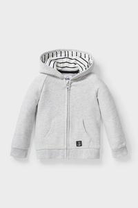 C&A Baby-Sweatjacke-Bio-Baumwolle, Grau, Größe: 62