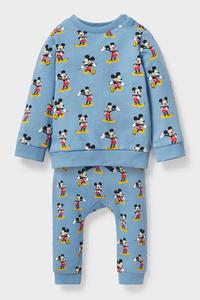 C&A Micky Maus-Baby-Outfit-Bio-Baumwolle-2 teilig, Blau, Größe: 56