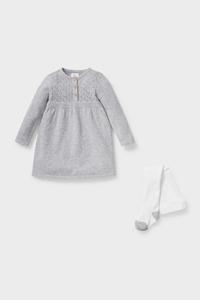 C&A Baby-Outfit-2 teilig, Grau, Größe: 56