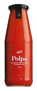 Viani Polpa - Fein gewürfelte Tomaten im eigenen Saft 650g 0000 - Saucen, Pesto & Chutneys, Italien, 0.6500 kg