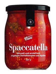 Viani Spaccatella - Naturell und erntefrisch eingelegte Datteltomaten aus Apulien 550g 0000 - Antipasti, Italien, 0.5500 kg