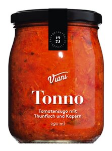 Viani Tonno - Tomatensugo mit Thunfisch und Kapern 290ml 0000 - Saucen, Pesto & Chutneys, Italien, 0.2900 l