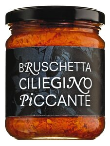 Bruschetta Ciliegino Piccante - Bruschetta aus Kirschtomaten, pikant 200g 0000 - Saucen, Pesto & Chutneys, Italien, 200g