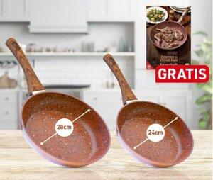 Livington Copper & Stone Pan 24cm + 28cm