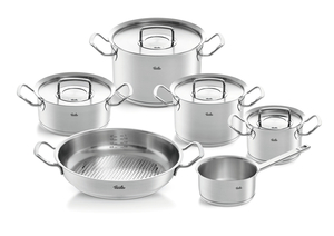 Fissler Topfset Pure-Profi-Collection 5-tlg. + gratis Pfanne 28cm