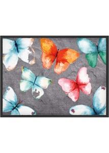 Fußmatte mit buntem Design