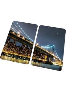 Herdabdeckplatten mit Brücken Motiv (2er Pack)