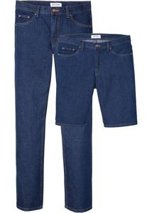 Regular Fit Jeans + Bermuda aus Bio-Baumwolle (2er Pack)