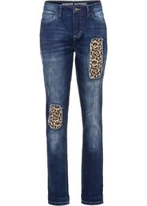 Boyfriend-Jeans mit Leo Einsatz