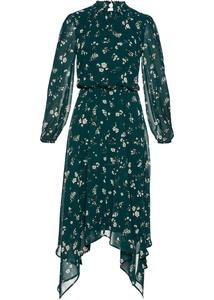 Chiffon-Kleid mit Zipfelsaum
