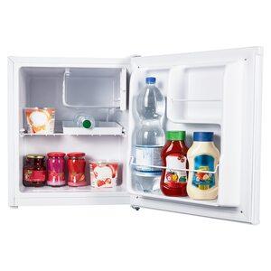MEDION Tischkühlschrank mit Eisfach MD 37574, 41 L Gesamt-Nutzinhalt, integriertes Eiswürfelfach mit 4 L, manuelle Temperatureinstellung, freistehend