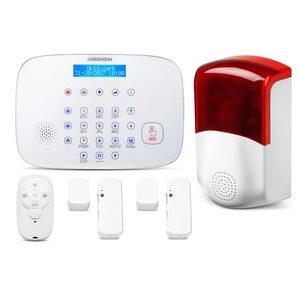 MEDION Smart Home Alarmsystem Zentrale P85731 inkl. Türkontakt P85703, Sirene P85714, Fernbedienung P85713 - ARTIKELSET