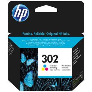 HEWLETT PACKARD 302 Original Druckerpatrone Farbe, Cyan/Magenta/Gelb, gestochen scharfe Texte, Bilder und Grafiken in brillanten Farben, zum Drucken von hochwertigen Fotos und Dokumenten, zuverlässi