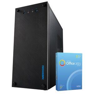 MEDION AKOYA® E32013, AMD Ryzen™ 5 PRO 4650G, Windows10Home, 512 GB SSD, 8 GB RAM, Multimedia PC, inkl. SoftMaker Office Standard 2021