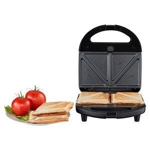 MEDION 3 in 1 Sandwichmaker MD 19788, Sandwich, Waffel oder Panini, antihaftbeschichtete Wechselplatten, max. 750 Watt, wärmeisolierter Griff