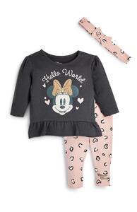 """3-teiliges """"Disney Minnie Maus"""" Set mit Leggings, T-Shirt und Stirnband für Neugeborene (M)"""