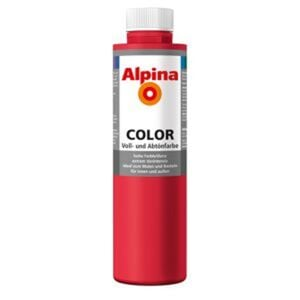 Alpina Color Voll- und Abtönfarbe 'Fire Red' seidenmatt 750 ml