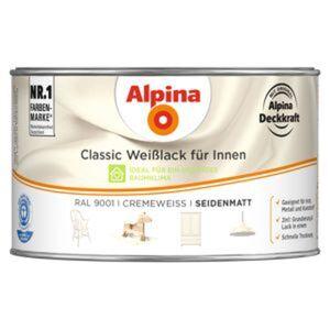 Alpina Classic Weißlack für Innen, cremeweiß, seidenmatt, 300 ml