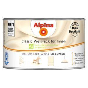 Alpina Classic Weißlack für Innen, perlweiß, glänzend, 300 ml