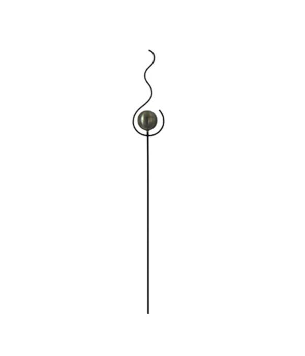Dehner Metall-Dekostab Flamme, ca. B16/H152/T10 cm