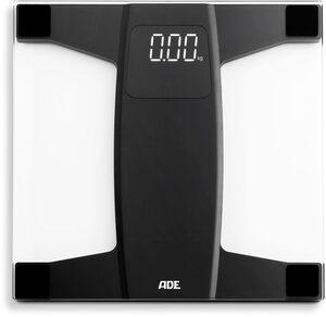 ADE Personenwaage »BE1909 Suki«, digital, aus Sicherheitsglas mit weiß-auf-schwarz Display