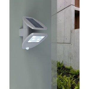 Lutec LED-Solarleuchte Zeta mit Bewegungsmelder und integriertem Solarpanel
