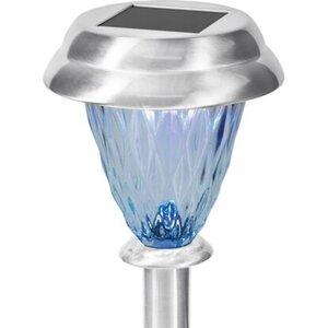 LED-Solarspieß Edelstahl