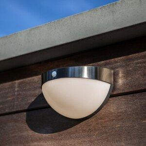 Lutec Solar-Außenwandleuchte Bubble Edelstahl
