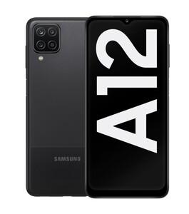 Samsung Galaxy A12 schwarz Smartphone (6,5 Zoll, 64 GB, 48 MP + 5 MP + 2 MP + 2 MP, Quad-Kamera, 5.000-mAh, Octa-Core, Fingerabdrucksensor, Gesichtserkennung)
