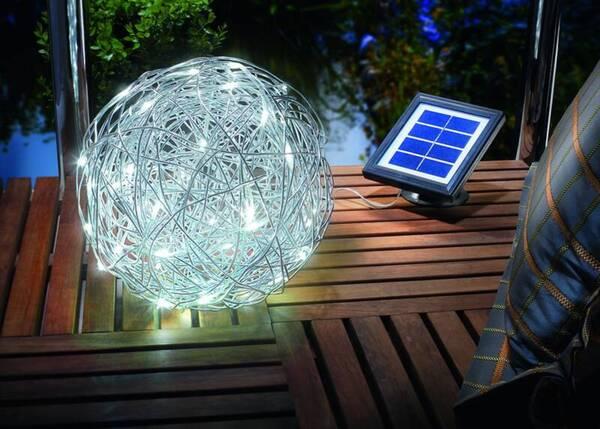 Solar LED Alu Wireball