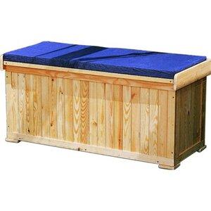 Promadino Sitzbank/Kissentruhe mit Sitzauflage,blau